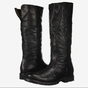 FRYE •Vanessa• Black Leather Shearling Boots • 11
